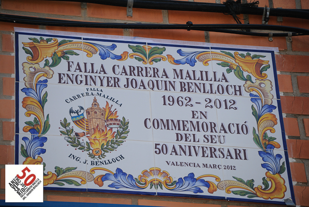 Placa Conmemorativa 50 Anv.
