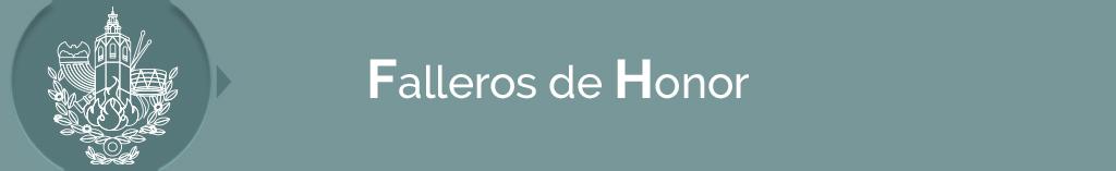 títulos FALLEROS DE HONOR